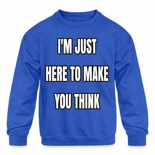 IJHTMYT (White Font) - Kids' Crewneck Sweatshirt