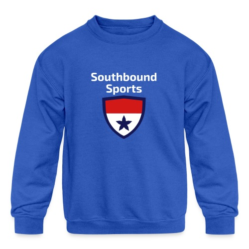 The Southbound Sports Shield Logo. - Kids' Crewneck Sweatshirt