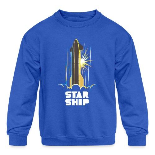 Star Ship Earth - Dark - Kids' Crewneck Sweatshirt