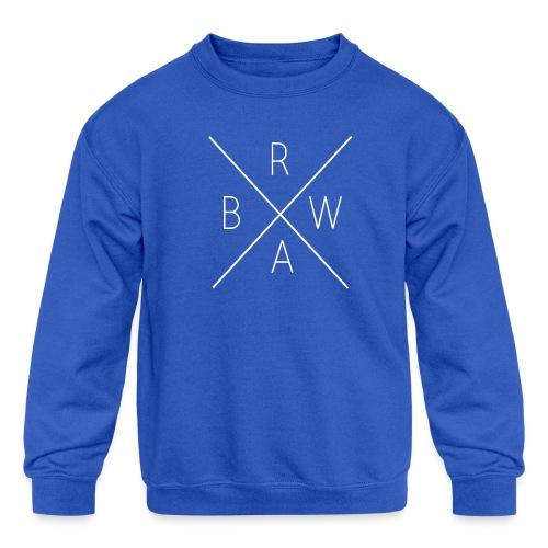 BRWA ShirtX White - Kids' Crewneck Sweatshirt