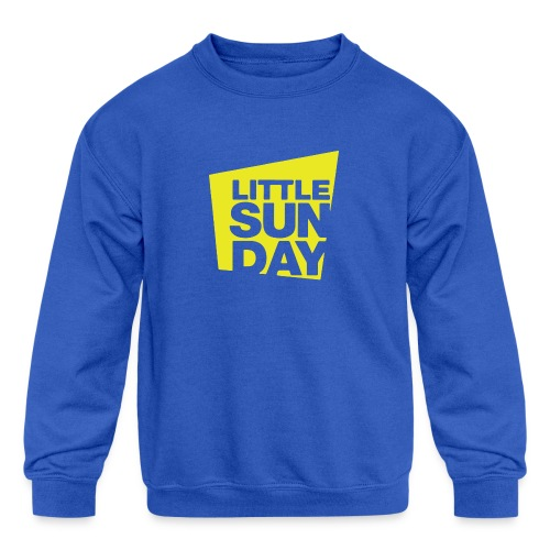 littleSUNDAY Official Logo - Kids' Crewneck Sweatshirt