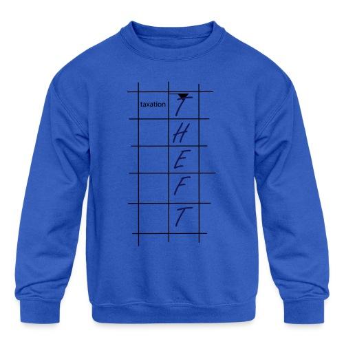 Taxation is Theft Crossword - Kids' Crewneck Sweatshirt