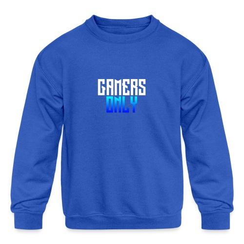 Gamers only - Kids' Crewneck Sweatshirt