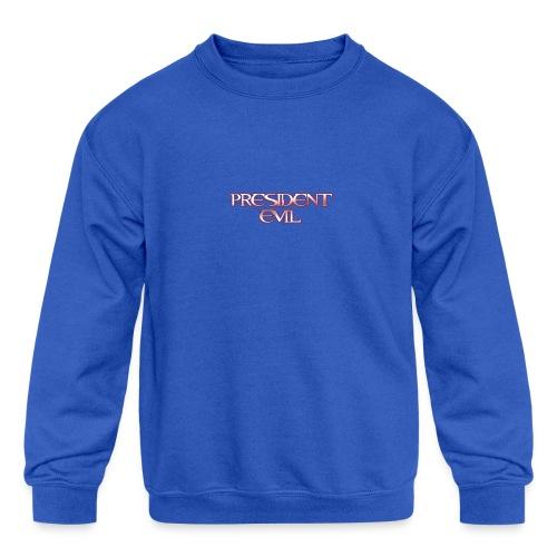 President-Evil-Bestseller - Kids' Crewneck Sweatshirt