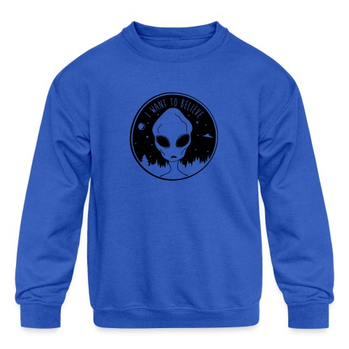 I Want To Believe - Kids' Crewneck Sweatshirt