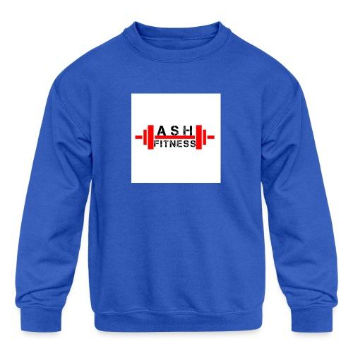 ASH FITNESS MUSCLE ACCESSORIES - Kids' Crewneck Sweatshirt