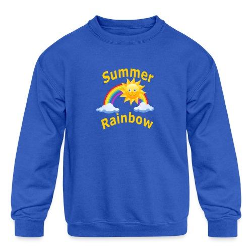Summer Rainbow - Kids' Crewneck Sweatshirt