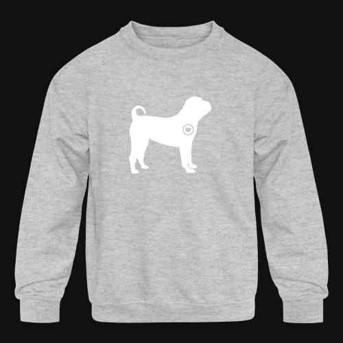 Shar Pei love - Kids' Crewneck Sweatshirt