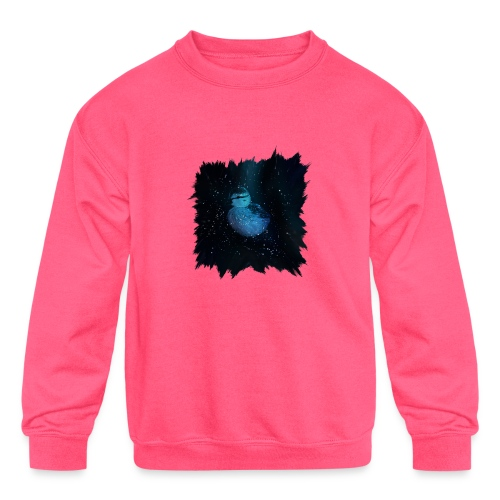 Galaxy Duckling in Space - Kids' Crewneck Sweatshirt