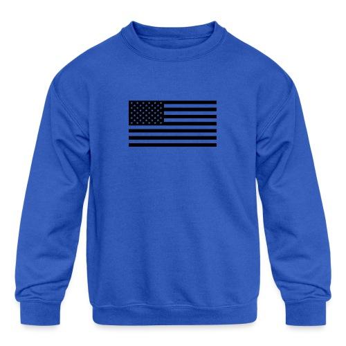 American Flag - Kids' Crewneck Sweatshirt