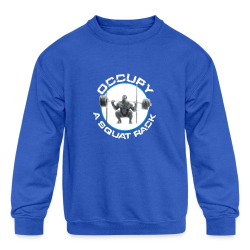 occupysquat - Kids' Crewneck Sweatshirt