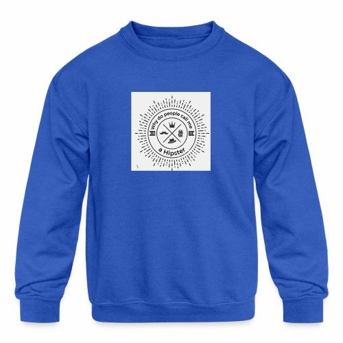 hipster5 - Kids' Crewneck Sweatshirt