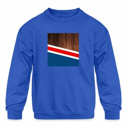 Wooden stripes - Kids' Crewneck Sweatshirt