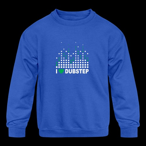 I heart dubstep - Kids' Crewneck Sweatshirt
