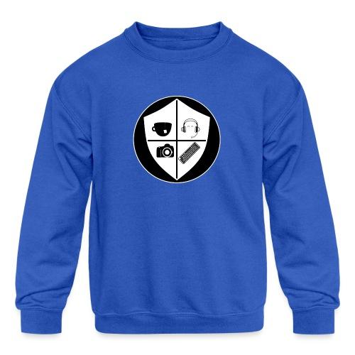 Punk Who Drinks Tea Crest (Inverted) - Kids' Crewneck Sweatshirt