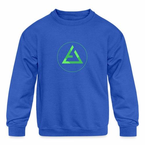 crypto logo branding - Kids' Crewneck Sweatshirt