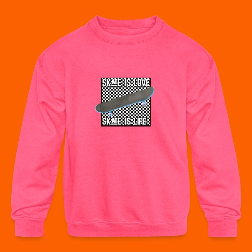 SK8 is Love - Kids' Crewneck Sweatshirt