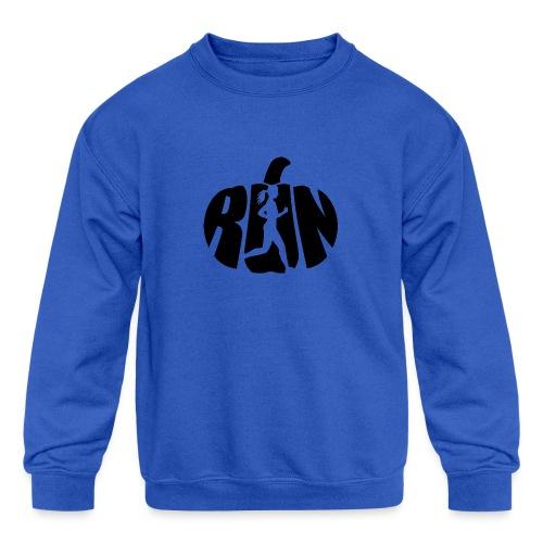 Halloween Running Pumpkin - Kids' Crewneck Sweatshirt