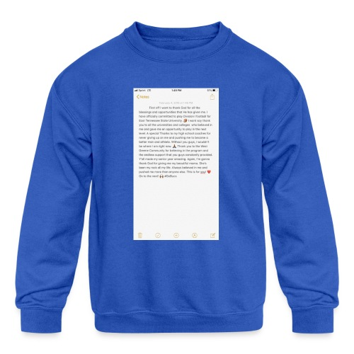 Text from a Football Commit - Kids' Crewneck Sweatshirt