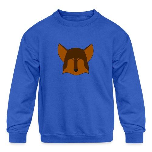 Simple Wolf Head - Kids' Crewneck Sweatshirt