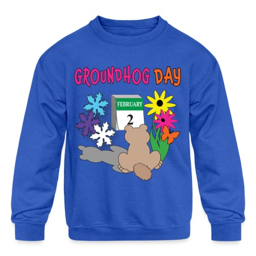 Groundhog Day Dilemma - Kids' Crewneck Sweatshirt