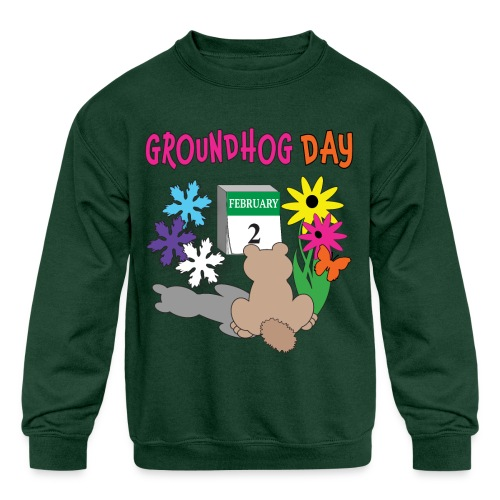 Groundhog Day Dilemma - Kids' Crewneck Sweatshirt