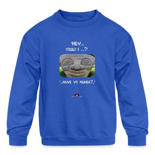 The Hey Could I have Yo Number Alien - Kids' Crewneck Sweatshirt