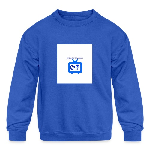 OdogVlogsTv Offical Logo - Kids' Crewneck Sweatshirt