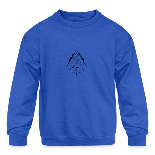 black rose - Kids' Crewneck Sweatshirt
