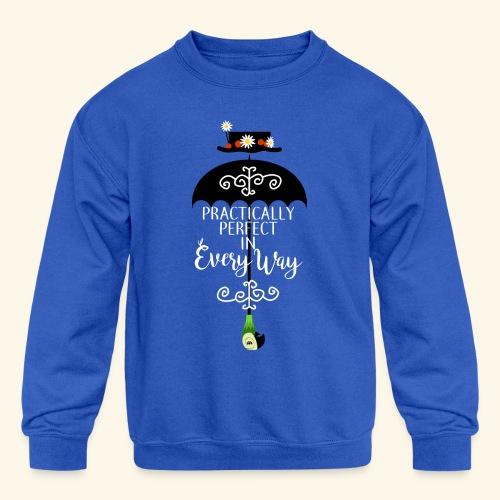 Practically Full-Colored - Kid's Crewneck Sweatshirt