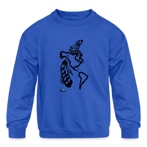 NativeLand - 7thGen - Kids' Crewneck Sweatshirt