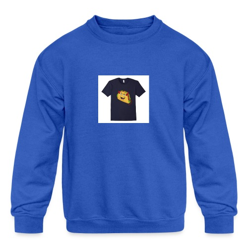evil taco merch - Kids' Crewneck Sweatshirt