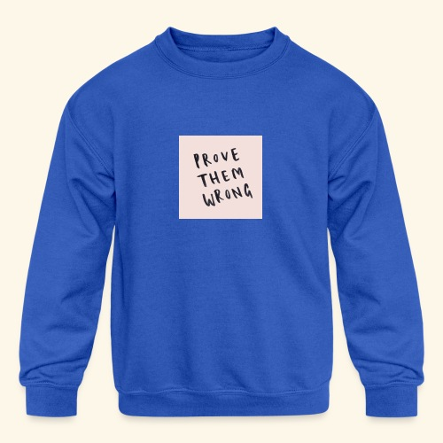 show em what you about - Kids' Crewneck Sweatshirt