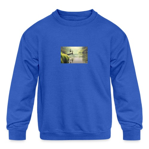 fishing - Kids' Crewneck Sweatshirt
