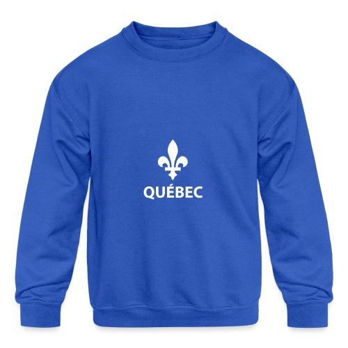 Québec - Molleton à encolure ras-du-cou pour enfants