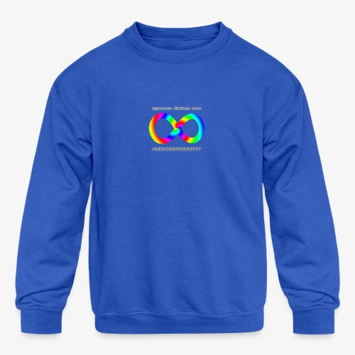 Embrace Neurodiversity with Swirl Rainbow - Kids' Crewneck Sweatshirt