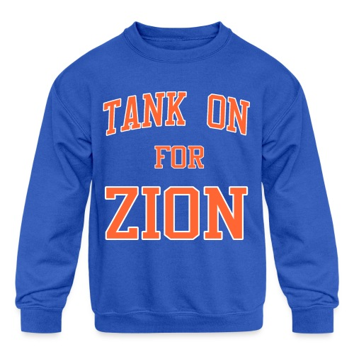 Tank On For Zion - Kids' Crewneck Sweatshirt