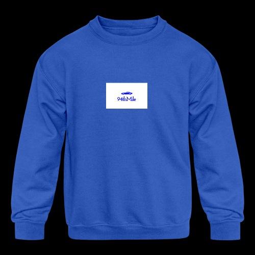 Blue 94th mile - Kids' Crewneck Sweatshirt