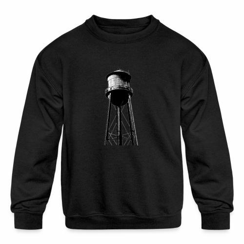 Water Tower - Kids' Crewneck Sweatshirt