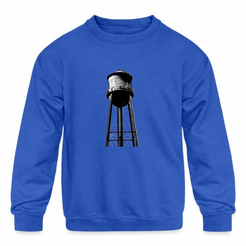 Water Tower - Kids' Crewneck Sweatshirt