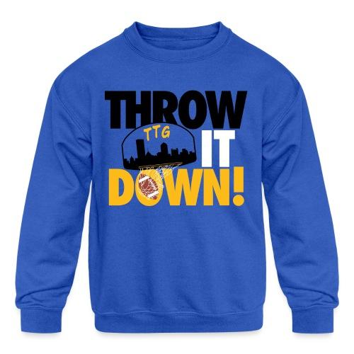 Throw it Down! (Turnover Dunk) - Kids' Crewneck Sweatshirt