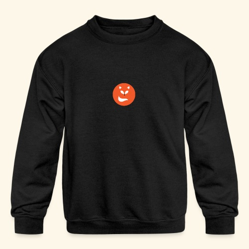 Orange fox - Kids' Crewneck Sweatshirt