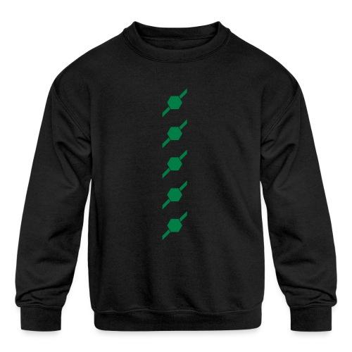 fivehex vector - Kids' Crewneck Sweatshirt