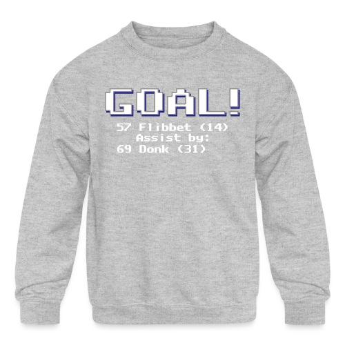 Buzz Flibbet Goal Assisted by Mark Donk - Kids' Crewneck Sweatshirt