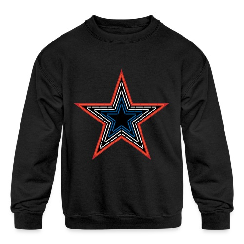 Roanoke Virginia Pride Mill Mountain Star - Kids' Crewneck Sweatshirt