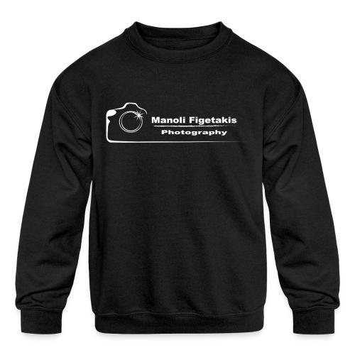 Manoli Figetakis Photography Logo - Kids' Crewneck Sweatshirt