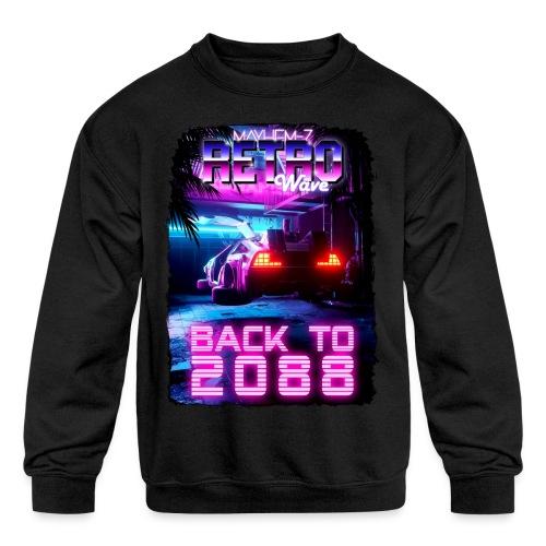 Retro Wave 7 - Kids' Crewneck Sweatshirt