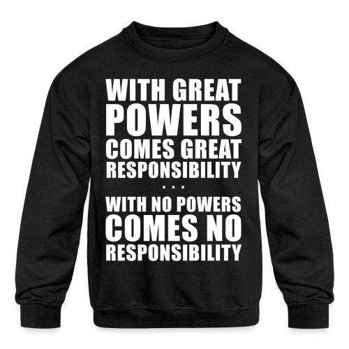 Great Powers - Kids' Crewneck Sweatshirt