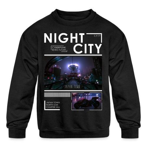 Night City Japan Town - Kids' Crewneck Sweatshirt