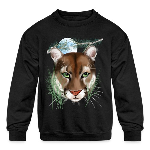 Midnight Puma - Kids' Crewneck Sweatshirt